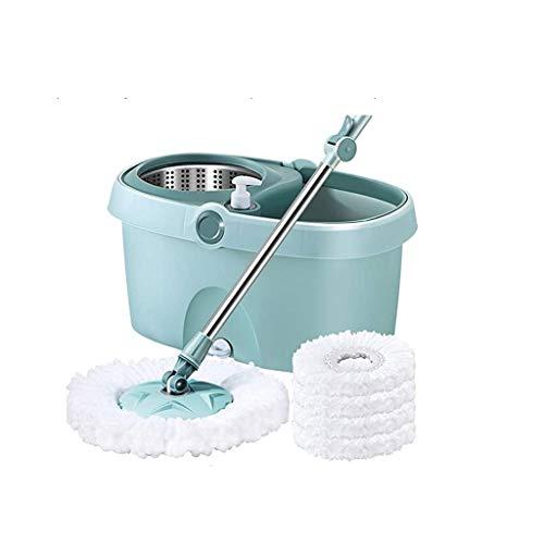 XYZMDJ mop, 360 graden draaibaar, gemakkelijk te reinigen vloerwisser van kunststof, zeer vochtig of droog, wasbaar