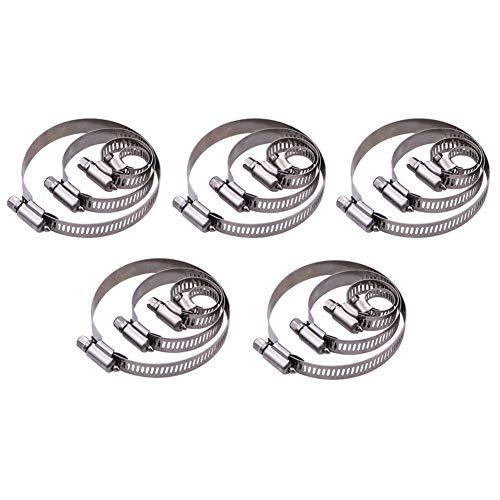 Maotrade 20 Stück Schlauchschelle Einstellbar Schlauchschellen Edelstahl Set 6-12mm, 14-27mm, 27-51mm, 52-76mm mit Bandbreite 12mm Schlauchklemme Rohrschelle für Waschmaschine, Pool, KFZ