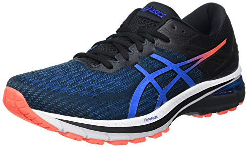 Asics GT-2000 9, Road Running Shoe Hombre, Black/Directoire Blue, 42.5 EU