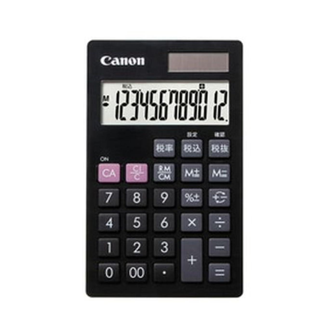 範囲あご気分が悪いキヤノン 手帳サイズ電卓 12桁(ブラック)Canon LS-12T-BK