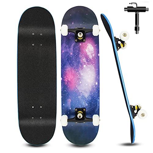 Skateboard para Principiantes Niños Adultos 79 X 20 Cm, Monopatin Completo de...