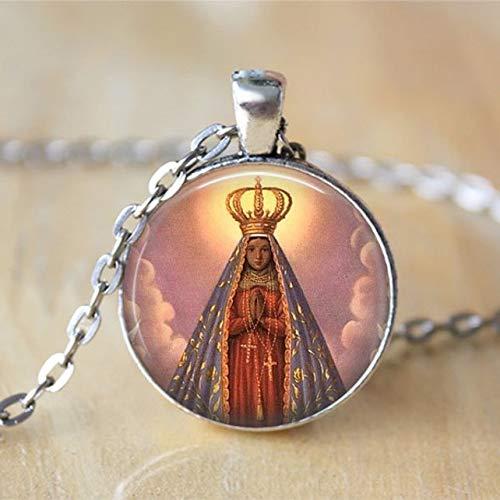 Collar de Nuestra Señora de Guadalupe, Joyería religiosa, Virgen María, Madre María, Joyería religiosa católica, Regalo Cristiano Collar