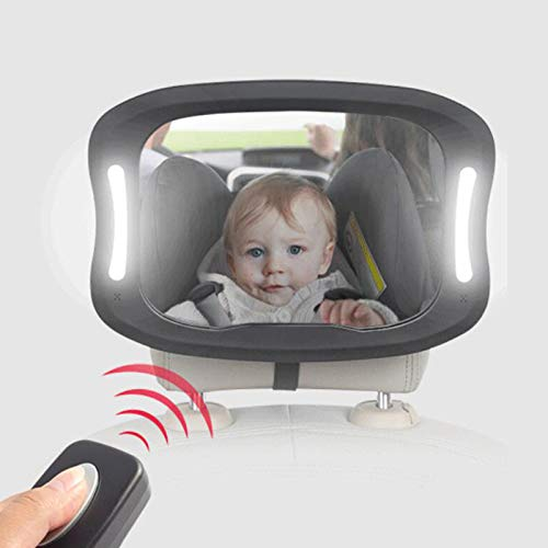 Baby Challenge the lowest price Car Mirror LED Light sold out Back Shatterproof Faci Adjustable Seat