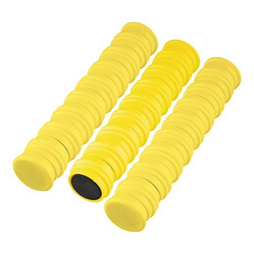 50 Magnete Gelb Ø 24 mm   Haftmagnete   Rund   Whiteboard - Kühlschrank - Magnettafel - Magnet - Magnetwand - Büro - Haushalt