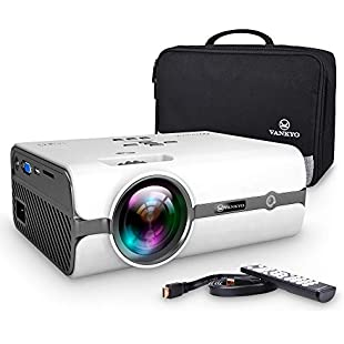 VANKYO Projector, LEISURE 410 Video Projector 2500 Lumens with Bag-White ...