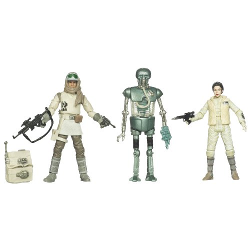 Kenner Star Wars The Empire Strikes Back Special Exclusive Action Figure 3Pack Rebel Set 21B, Leia Hoth Outfit, Rebel Commander