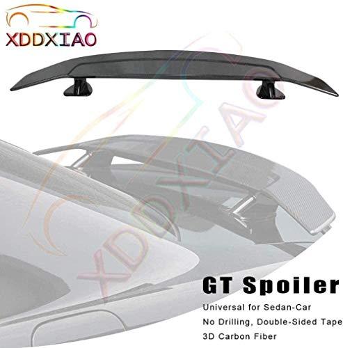 GWQNB Tuning Alerón universal para coche sedán 3D de carbono, escotilla trasera trasera trasera Gt Wing accesorios de decoración A, A