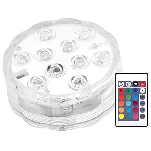 Luces de Piscina de Colores RGB, luz de Buceo con Chip 10LED con IP68 a Prueba de Agua para Suministros de iluminación de luz de Acuario