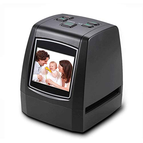 """QCHEA Ad Alta risoluzione Film Scanner for Diapositive, convertiti 35mm, 126/110 cinematografica, Negativo Super8 Film/Presentazione for JPEG Salva nei SD Card con 2.4"""" LCD Display"""