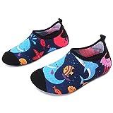 JOINFREE Zapatos de Calcetines con diseño de delfín de Dibujos Animados para niños Zapatos para Caminar Ligeros Suaves Zapatos de Playa Aqua Swim, 18-37 EU
