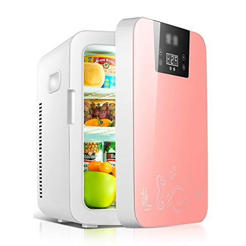 Frigoríficos mini Refrigerador De 16L Refrigerador Pequeño para Automóvil Refrigerador Pequeño Doméstico Refrigerador Pequeño Refrigerador Pequeño Individual (Color : Pink, Size : 31 * 25 * 37cm)
