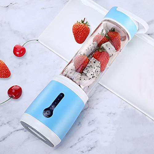 Función USB Exprimidor Copa Mini Multi Licuadora, Portable Creativo Personal Blender Blender Smoothie 480ml eléctrico del Fabricante de Botellas de Viajes Aptitud,Azul
