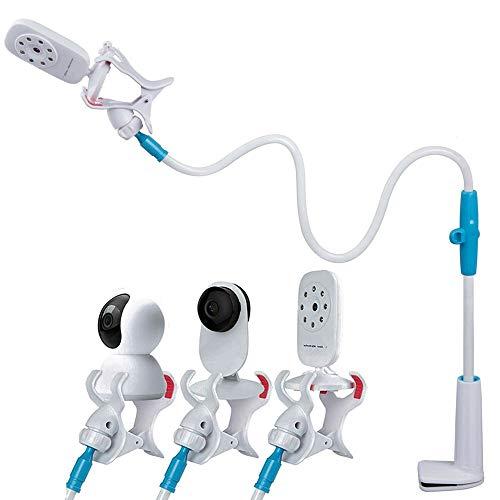 Apark Soporte para Vigilabebes Universal - Soporte para Cámara Monitor de Bebé Ajustable sin Perforación - Compatible con la Mayoría de Monitores de Bebé - Resistente y Flexible