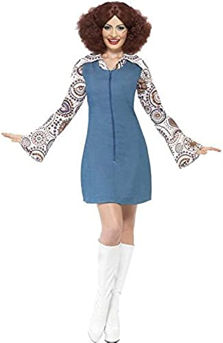 groovy Girl Fancy Dress Costume-Medium Größe