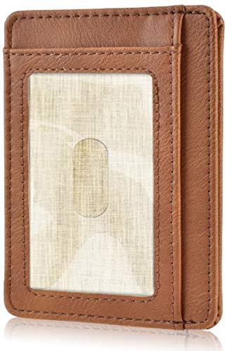 KATUMO Porta tessera Marrone Light Brown 4.8' x 3.2' x 0.31' (12.2cm x 8.2cm x 0.8cm)