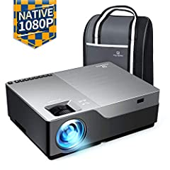 【NATIVE 1080P FULL HD RESOLUTION】With native resolution of 1920*1080 and contrast ratio of 5000:1, the VANKYO Performance V600 brings 3 times of more details than 720P projectors, delivering impeccable image quality for professional use. 【+80% BRIGHT...