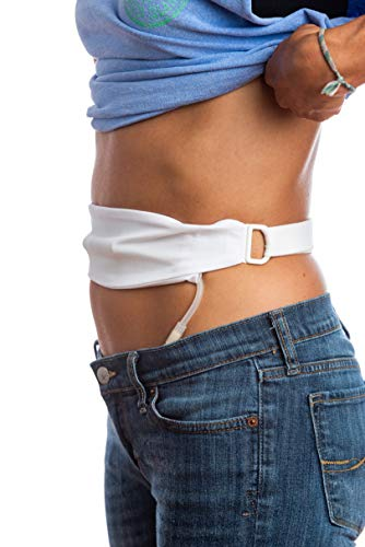 The Tuck-Away PD Dialysis Belt (M White 32-42)