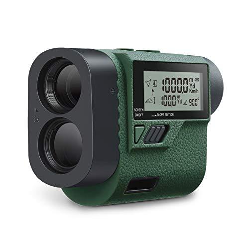 Huepar HLR1000 Golf afstandsmeter, 1000 m/1100 yards met handheld LCD-display en hoekfunctie, 6 x multifunctionele lasermeter voor afstand, snelheid, hoek, hoogte meting