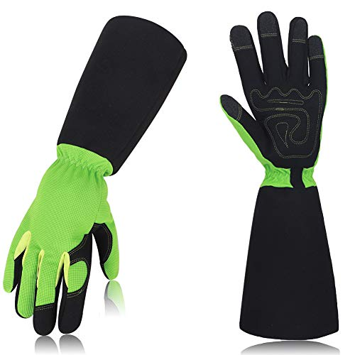 Gartenhandschuhe für Herren, dornensichere und schnittfeste Handschuhe mit langen Ärmeln, schützen Sie Ihre Arme bis zum Ellenbogen, dicker Schutz, Gartenhandschuhe, verschleißfest und atmungsaktiv