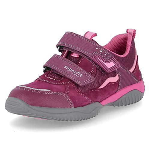 Superfit Mädchen STORM Sneaker, ROT/ROSA 5000