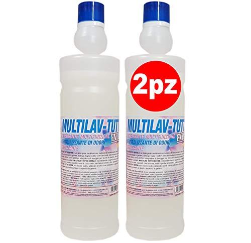 Neutralizzante di odori MULTILAV TUTTO Extra 2 x 1000ml, igienizza e rimuove cattivi odori, ottimo anche come additivo di lavaggio, pulisce le superfici.