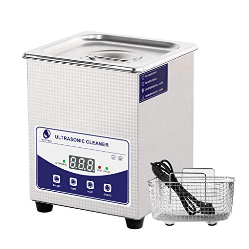 Skymen Ultrasonic Jewelry Cleaner 2L Sonic Cleaning Machine with Timer and Heater, Ultrasonic Bath Cleaning for Eyeglass, Denture, Silver Jewelry, Watches Metal Parts etc