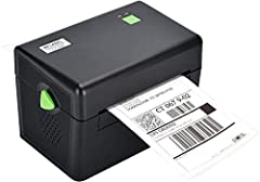 "ompatible with 4""x6"" thermal labels, best for 4""x6"" fanfold shipping labels. for printing labels width of 1.96''-4.25''. Direct thermal printer, no ink or toner, makes it more convenient. Compatible with Windows (XP and newer) ,not work for MAC ,not ..."