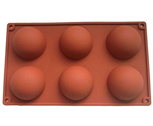 4pcs Grand 6 Demi-spheres Moule en Silicone, Plat a Four en Silicone Antiderapant Gateau de cuisson