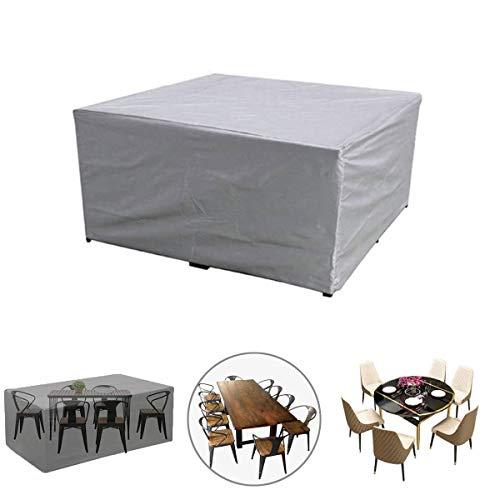 Funda para Muebles, Patio Fundas Muebles Jardín al Aire Libre, Mesa y Sillas Exterior Impermeable Oxford Poliéster Resistente Polvo Anti-UV (Size : L83.8 x W51.9 x H29.1in)