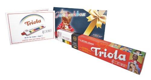 TRIOLA 12: die beliebte Blasharmonika für Kinder in der DC-Geschenkbox - im Set mit Liederbuch Band 1 (deutsche Kinderlieder) in der DC-Geschenkbox
