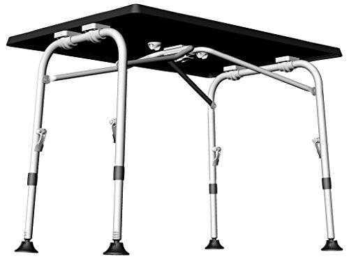 CAMPINGTISCH - BASALT DARK - 100 x 68 cm - stufenlos höhenverstellbar - 59 - 72 cm standfest und strapzierfähig mit wetterfester Platte. VERTRIEB durch - Holly ® Produkte STABIELO ® -