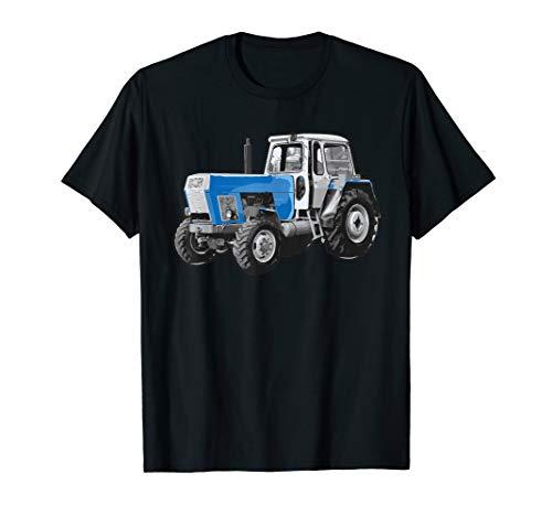 Retro Trakor Trecker Landwirte Bauern Acker Felder T-Shirt