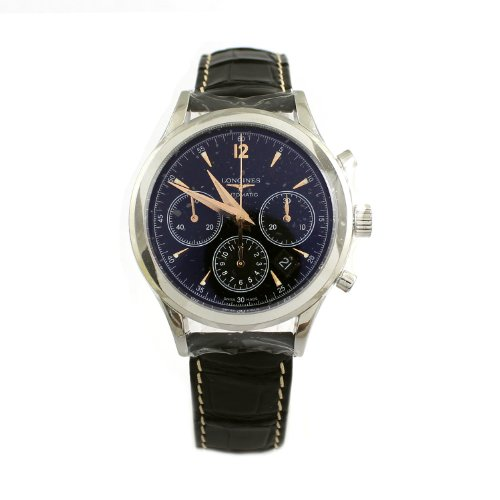 Longines Heritage Chronograph Automatic Stainless Steel Mens Strap Watch L2.750.4.56.0