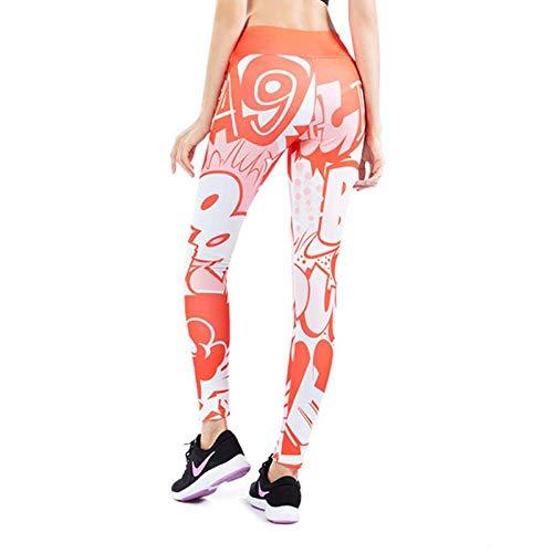 Leggings Nuevas Polainas con Estampado De Palabras Cómicas, Pantalones Elásticos De Cintura Alta con Pliegue En La Cadera, Pantalones Delgad