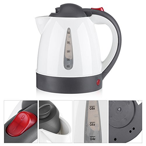Hervidor de coche, calentador de viaje eléctrico Botella de ebullición rápida 1000 ml 12V Hervidor de coche portátil Encendedor de cigarrillos Calentador de agua Botella para té Café(12V)