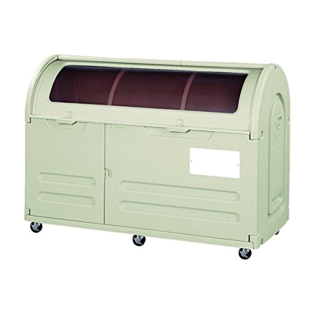 模倣世界に死んだ絶妙アロン化成 ステーションボックス透明 #800C(キャスター仕様) 『ゴミ袋(45L)集積目安 17袋、世帯数目安 8世帯』 『ゴミ収集庫』 ウォームグレー