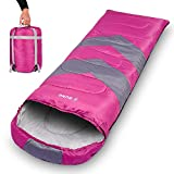 Ebung Sleeping Bag for Cold Weather – Envelope Portable Ideal for Winter, Summer, Spring, Fall –...