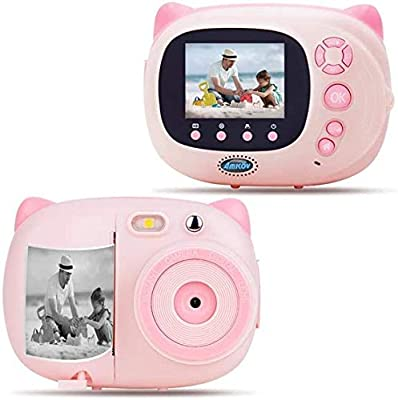 AMKOV Kids Camera Instant Print Digital Camera with Zero Ink Printing for Girls & Boys, WiFi Camera for Kids, 2.4inch LCD Display, Auto-Focusing, Auto-Flashlight, Creative Toys from LOYLOV