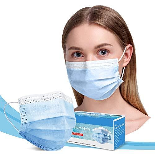 TomricCare Adult Face Masks Disposable 50 PCS,3 Ply