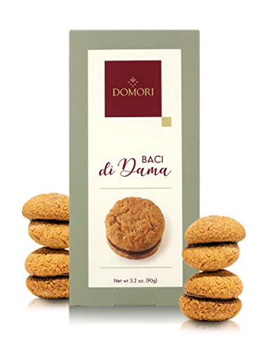 Domori Baci di Dama, 6 Galletas Italianas Besos de Dama