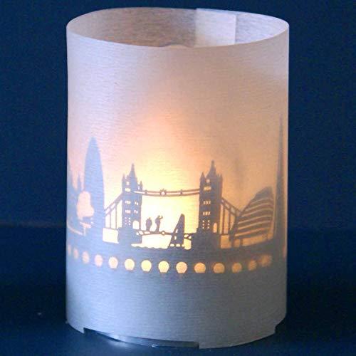 Skyline - Cortavientos (13 Gramos), London Design, Votive Shadow Play in Gift Tube