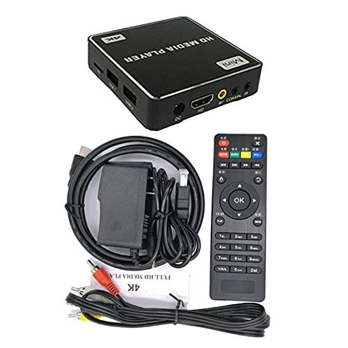 MagiDeal Receptor de TV Multimedia HD 1080P H.265 Soporte...