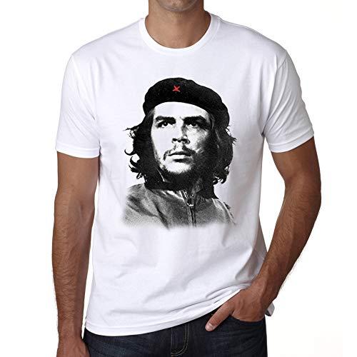 Hombre Camiseta Gráfico Che Guevara Vintage Idea de Regalo Blanco