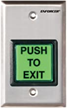 Seco-Larm SD-7202GC-PEQ ENFORCER LED Illuminated RTE Single-gang Wall Plate with Large Green Button, Large Illuminated Push Button with Caption