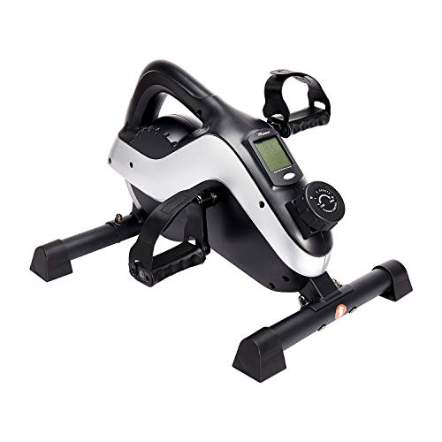 REEHUT Under Desk Cycle, 8-level Magnetic Resistance Mini Exercise Bike for Hand...