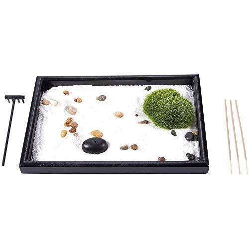 Juvale Zen Garden - Arena, Roca, y el rastrillo para la relajación y la meditación,...