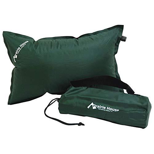 ふっくら自動膨張エアー枕 キャンプ枕 インフレータブルピロー 車中泊 車載用枕 エアーピローグリーン [XAA...