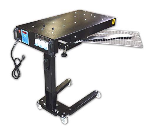INTBUYING 110V 3000W Flash Dryer 18x24 inch Intelligent Temperature Adjustable Screen Printing Ink Curing Machine
