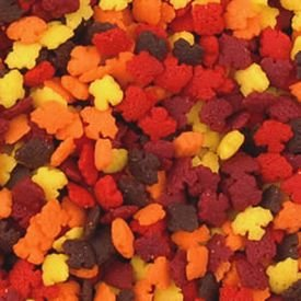 Mini Fall Popular popular Leaf Sprinkles Max 51% OFF Jar 4 oz