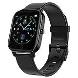 Polywell Fitness Armbanduhr mit Herzfrequenz, Fitness Tracker, Bluetooth Sportuhr Aktivitätstracker Schrittzähler, Schlaf Monitor, Kalorienzähler (Schwarz)